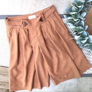 Anthropologie Elevenses Brown Wide Leg Shorts